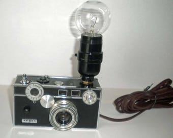 1 Vintage  Argus C3 camera desk lamp....photography, photographer steampunk table lamp art sculpture decorative