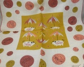 Vintage Mid Century Linen Souvenir Handkerchief Pennies From Heaven Unused