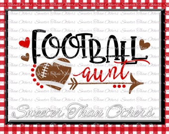 Football SVG Football Aunt Svg Distressed Football pattern Vinyl Design SVG DXF Silhouette, Cameo, Cricut, Instant Download, Football Design