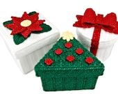 PATTERN: Christmas Boxes in Plastic Canvas