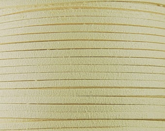 Faux Suede Cord By the Yard Vanilla Ivory 3mm thick (1013cor03m1-8)