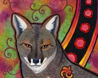 Darwin's Fox as Totem - Original Art