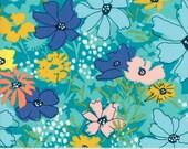 MODA Wild Nectar Cosmo Field Teal 11800 16 Yardage by Crystal Manning