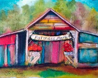 """Farmers Market,  5 x 7"""" Print"""