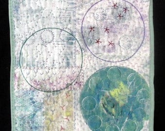 Trinity | Modern Circle Quilted Wall Art