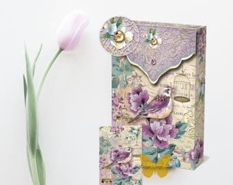 Lilac Bird Note Cards