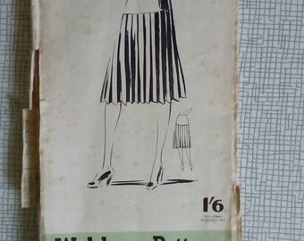 "1940s Skirt - 40"" Hip - Weldons 542 - Vintage Sewing Pattern"
