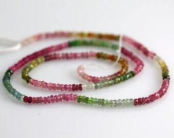 10% OFF SALE Watermelon Tourmaline Beads - 2 mm - Tourmaline Beads - AAA+