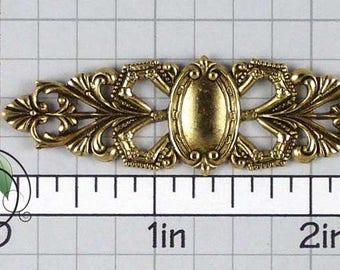 Bracelet Finding, Barrette Finding, Engraveable Blank, Barrette Stamping, Barrette Blank, Antiqued Brass, Brass Ox, 2 Pcs, 1306bo2