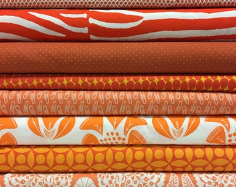 Quilt Sandwich's Color Pack - 10 Fat Quarters - Orange