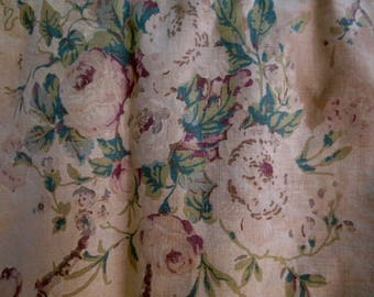 Curtain Valance Vintage Shabby Cottage Chic Floral Fabric Yardage Craft Supplies & Tools