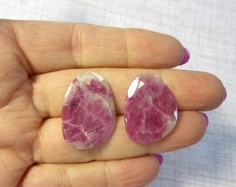 SALE Out Of TOWN Natural Pink Tourmaline Slice Gemstone Cabochon, Rose Cut Natural Pink Gemstone, Your Choice