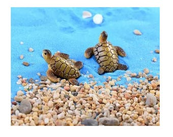 Miniature Sea Turtle for Fairy Garden Dollhouse Bonsai Landscape Decor
