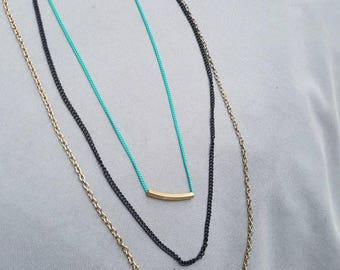 Multi colored chain necklace