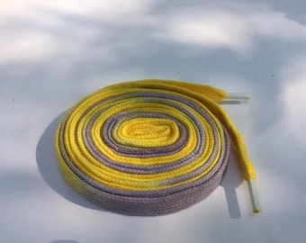 Hand Dyed Shoelaces (54 inch length) Summer Sun
