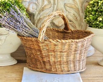 Lovely Antique Hand Woven French Basket