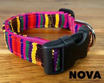 NOVA Dog Collars  Artistically Crafted Dog Collar Mayan Dog Collar You Pick Size Eco-Socially Responsible Weavers