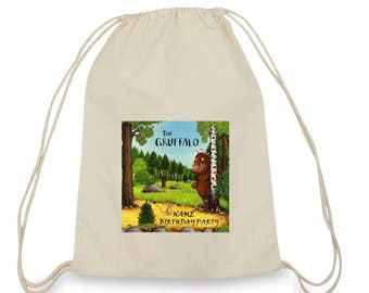 12 Personalized Gruffalo Birthday Party Favor Candy Loot Treat backpack Drawstring Bags