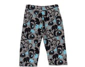 On SALE 75% OFF Jungle Baby - Elephant - Zoo Animals - Baby Pants - Boys Pants - Blue Pants - Grey Pants - Cotton Pants - 3m - 12m - 18m