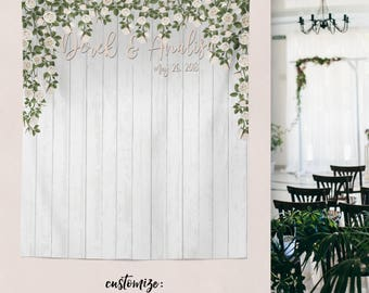 Rustic Wedding Banner Sign Backdrop Reception Decor Photo