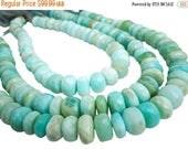 SALE Blue Peruvian Opal Beads, Peruvian Opal Beads, Blue Opal Beads, Rondelles, 14 to 16mm, Blue Opal Rondelles, Wholesale Opal, SKU 4355A