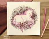 Unicorn FOIL PRINT by Nicole Gustafsson