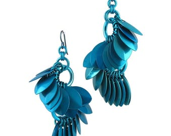 S Curve Earrings in Turquoise from the A Simple Petal Collection
