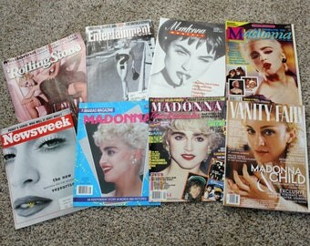 8 Madonna Magazine Cover Promo Type 1980s 90s, Anabas, Madonna Monthly UK Issue 1