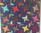 ON SALE Stars Over My Ancestral Home 44x56 inch art quilt