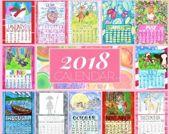 2018 Art Calendar 11x14
