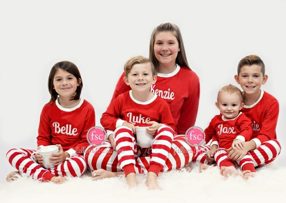 PRE-ORDER Family Christmas Pajamas personalized Matching