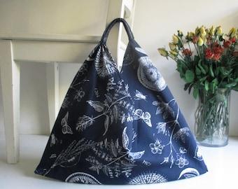 Botanics Print Japanese Bento Slouchy Handbag