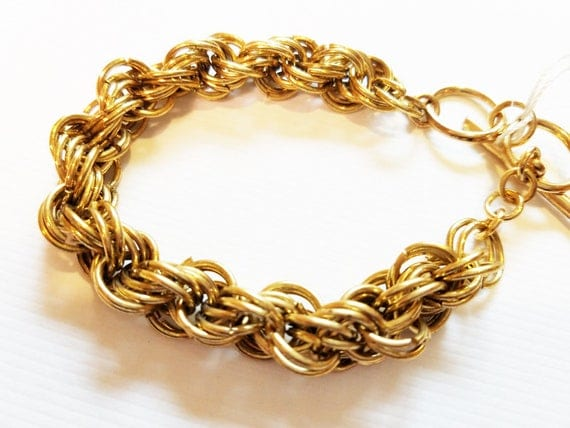 muti links chain bracelet gold 10mm metal womens mens unisex handmade wholesale jewelry