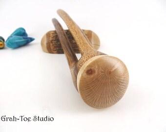 Avalon Tusk SNAP Hair Fork, Hairforks, Grahtoe Studio, Albizia Wood, Hair Forks, Hair Clip, Hair Sticks, Hairstick, Original 3D Hairfork