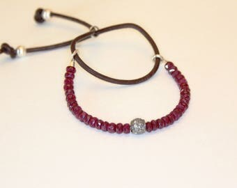 Special Order for Kim Ruby and pave diamond bracelet