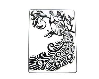 Darice Peacock Embossing Folder
