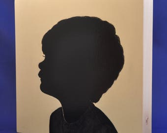 "8 X 8 X 1.5"" - LIMITED TIME OFFER - Hand painted Custom Silhouette Portraits"