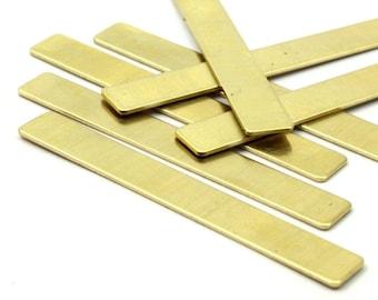 Brass Cuff Stamping Blank, 10 Raw Brass Stamping Blanks (54x7x0.80mm) B0185