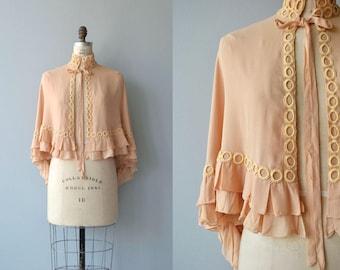 Cachet silk capelet | vintage 1930s jacket | silk 30s cape