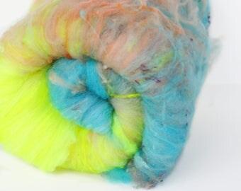 Sarong 2.6 oz  Wool - Merino // Art Batt // Wool Art Batt for spinning or felting