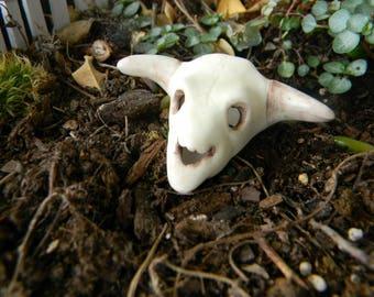 Cow Skull  with horns Dead Head  Ceramic Cow Skull Miniature Steer bulls