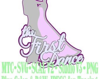 Wedding The First Dance #01 Bride Groom Cut Files MTC SVG SCAL Format and more traceable