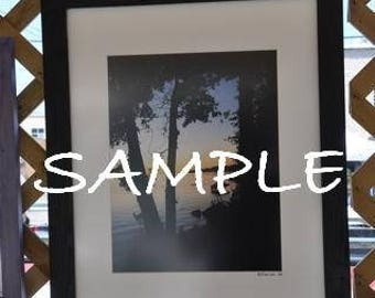 16x20 Picture Frame Black with Glass Backing and Mounting Hardware