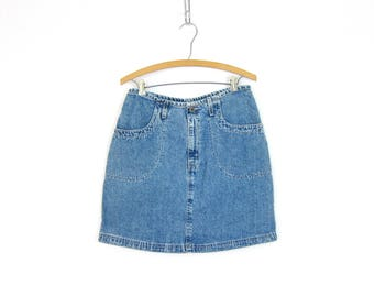 90s LEVIS Mini Jean Skirt Short Denim Skirt Vintage 90s Miniskirt Casual Preppy Summer Jean Skirt Blue Denim Skirt Women's Size 10