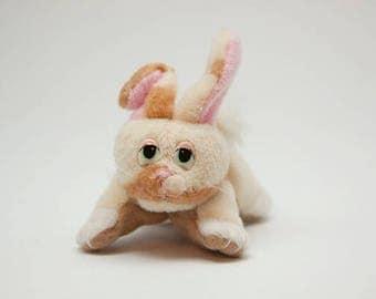 Vintage Brown and Cream Mini Pound Bunny 1996 Lewis Galoob Toys