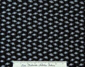 Moda Halloween Fabric - Pumpkin Party Deb Strain Gray Spiders on Black /Yd