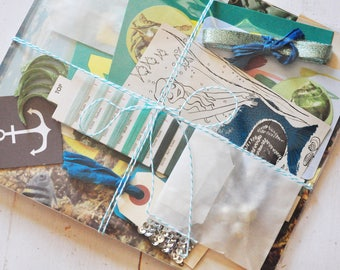 Mermaid Journaling and Mixed Media Inspiration Pack - Inspiration Kit - Travelers Notebook - Journal - Collage - Accessory - Accessories