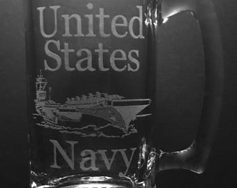 25 Ounce United States Navy Beer Mug