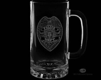 Police Department 16 Ounce Personalized Beer Mug