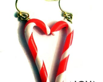 Candy Candy Cane earrings